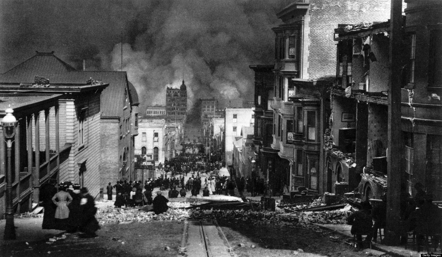 an overview of the 1906 earthquake in san francisco A devastating earthquake begins to shake the city of san francisco in the morning hours of this day in 1906the first of two vicious tremors shook san francisco at 5:13 am, and a second followed.