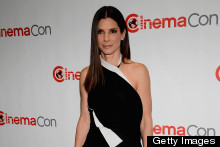 Sandra Bullock Hits Vegas In A Monochrome Jumpsuit, Pulls It Off