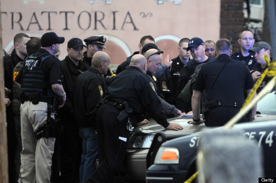 watertown police hunt boston bombing suspect
