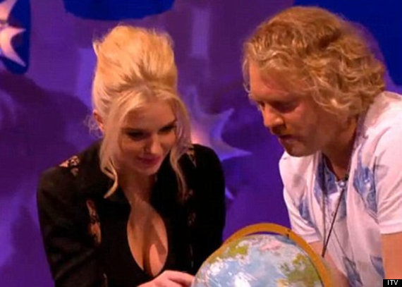 Geography fail on celebrity juice identifying russia as australia