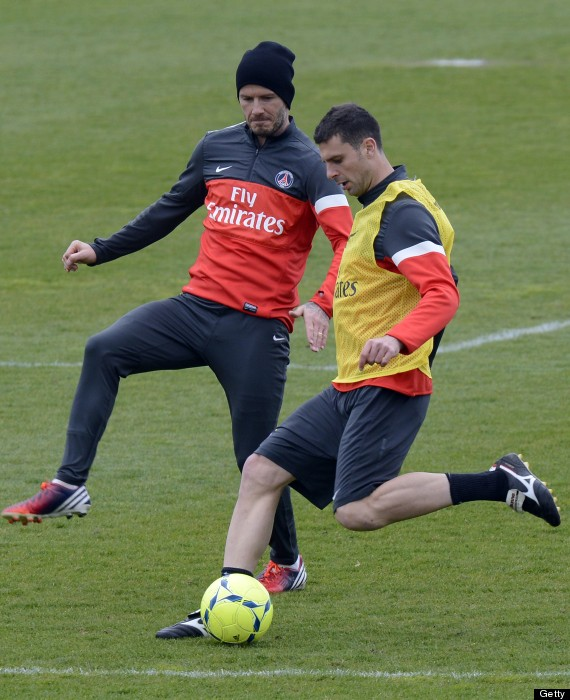 david beckham training