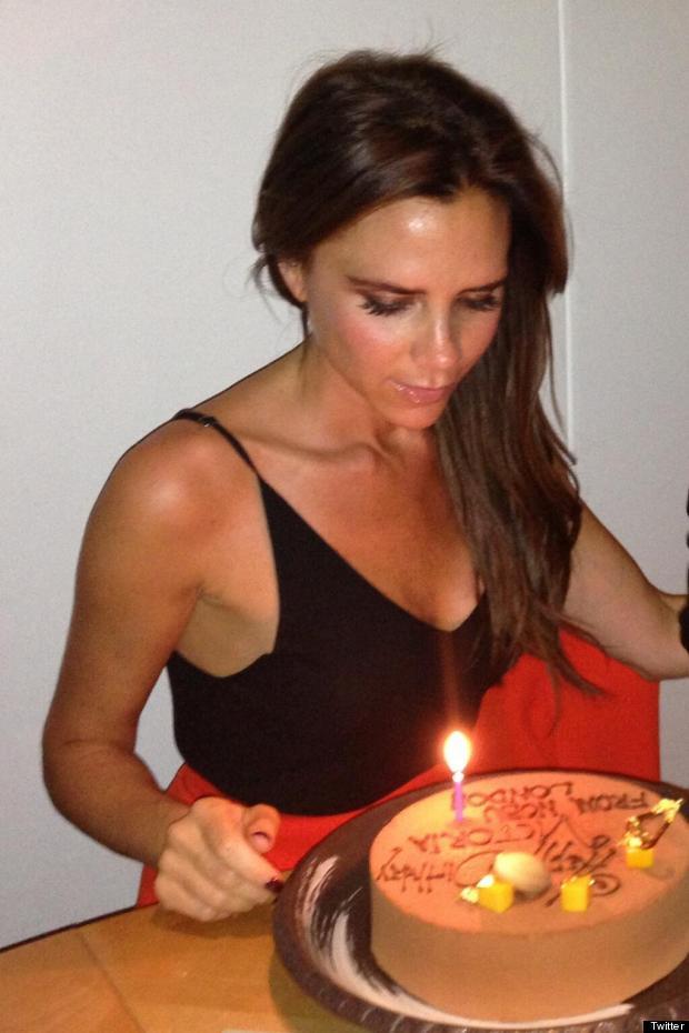 victoria beckham eats cake