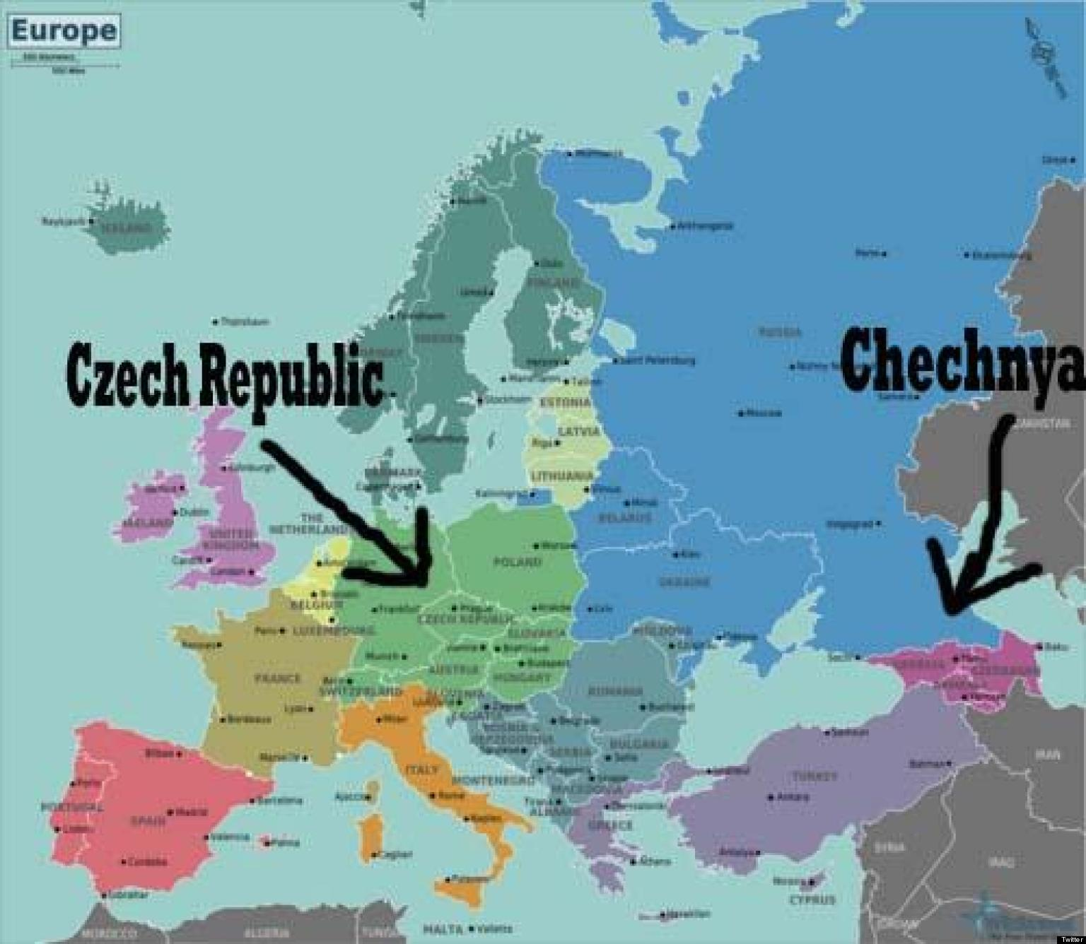 TWEETS: Chechnya Is Not Czech Republic