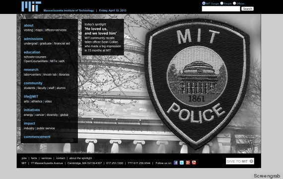mit website sean collier