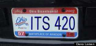 420 licence plate