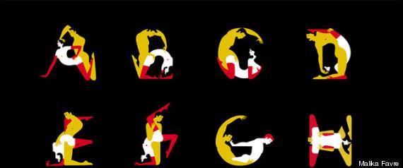 Alfabeto del kamasutra i 26 caratteri diventano posizioni for Figure del kamasutra