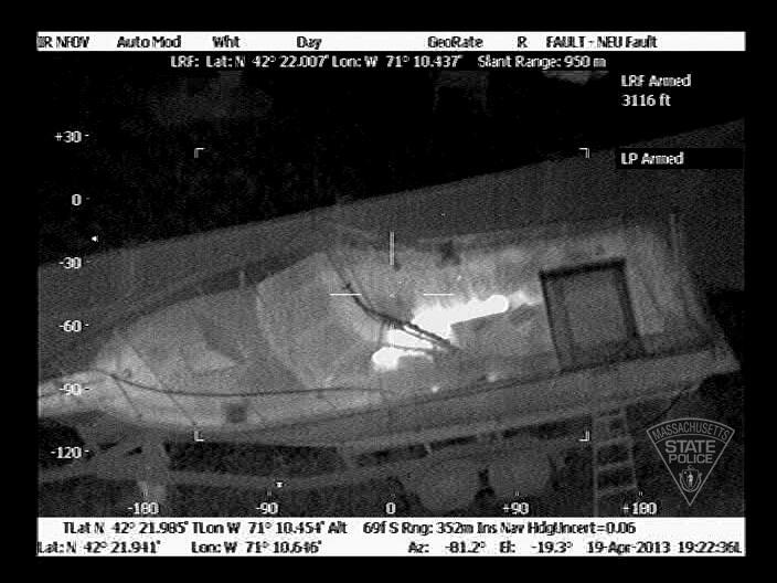 thermal imaging helicopter with Dzhokhar Tsarnaev Captured N 3118187 on Police Helicopter S Thermal Imaging Camera Detected Home Cannabis Factory Heat  ing L s Grow Drugs Look Like Flat GLOWING further Remotely piloted vehicle further From Module Cleaning Robots To Flying Drones Japans Growing Solar O M Market additionally Watch additionally Boston Bombing Suspect Fbi Surveillance Claim.