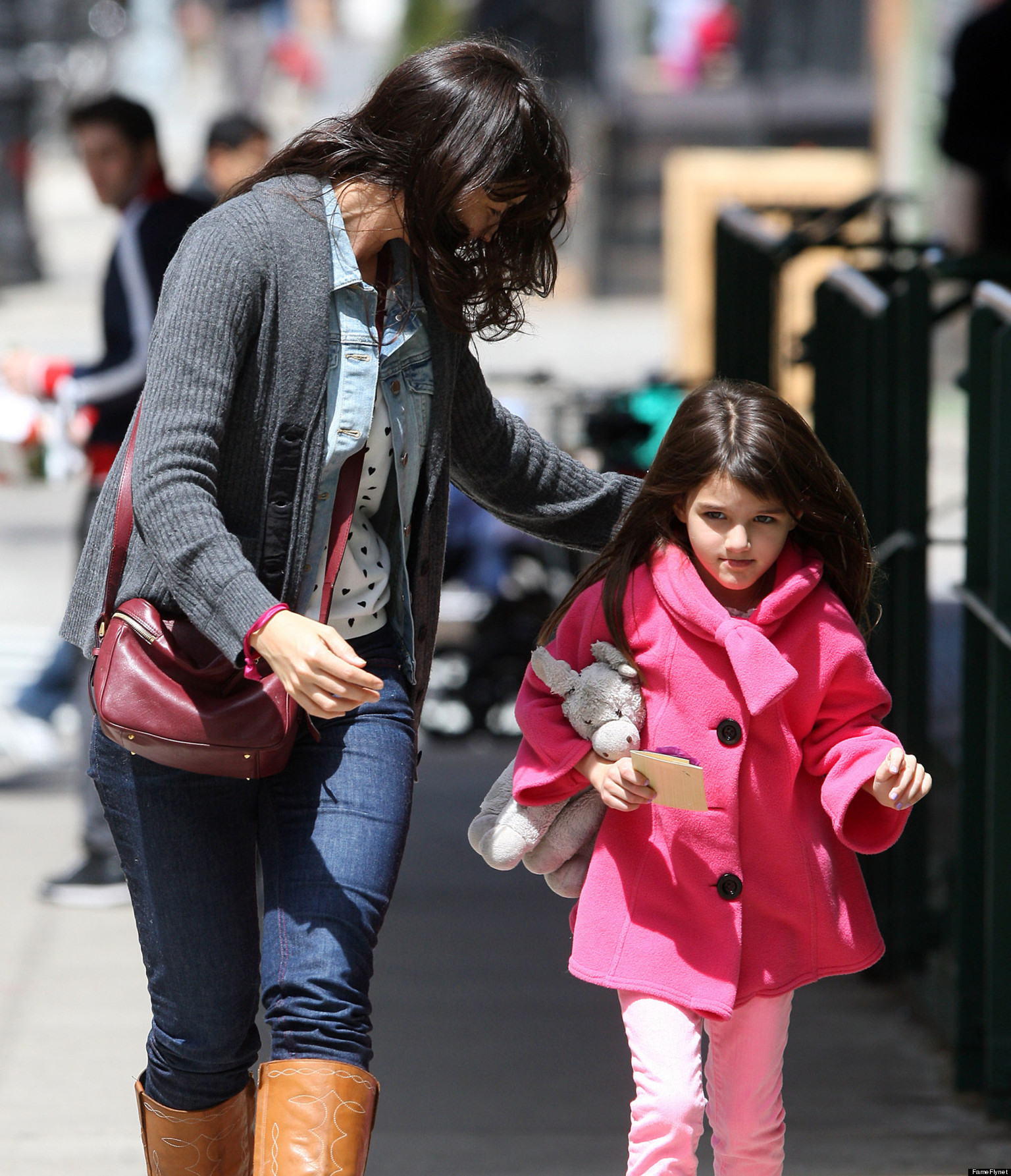 Katie Holmes, Suri Cruise Get Pampered In New York