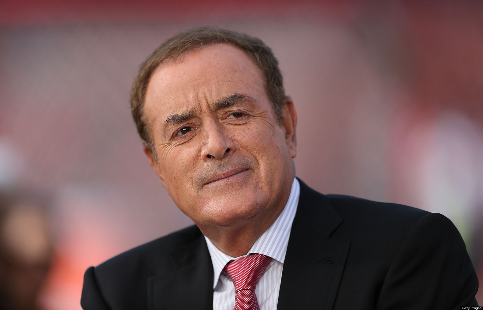 The 73-year old son of father James Michaels and mother Lila Michaels, 182 cm tall Al Michaels in 2018 photo