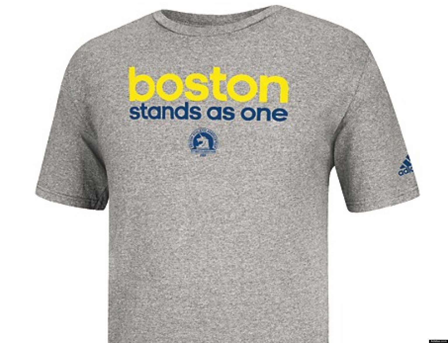 Adidas Sells Out Of T-Shirt Supporting Marathon Victims