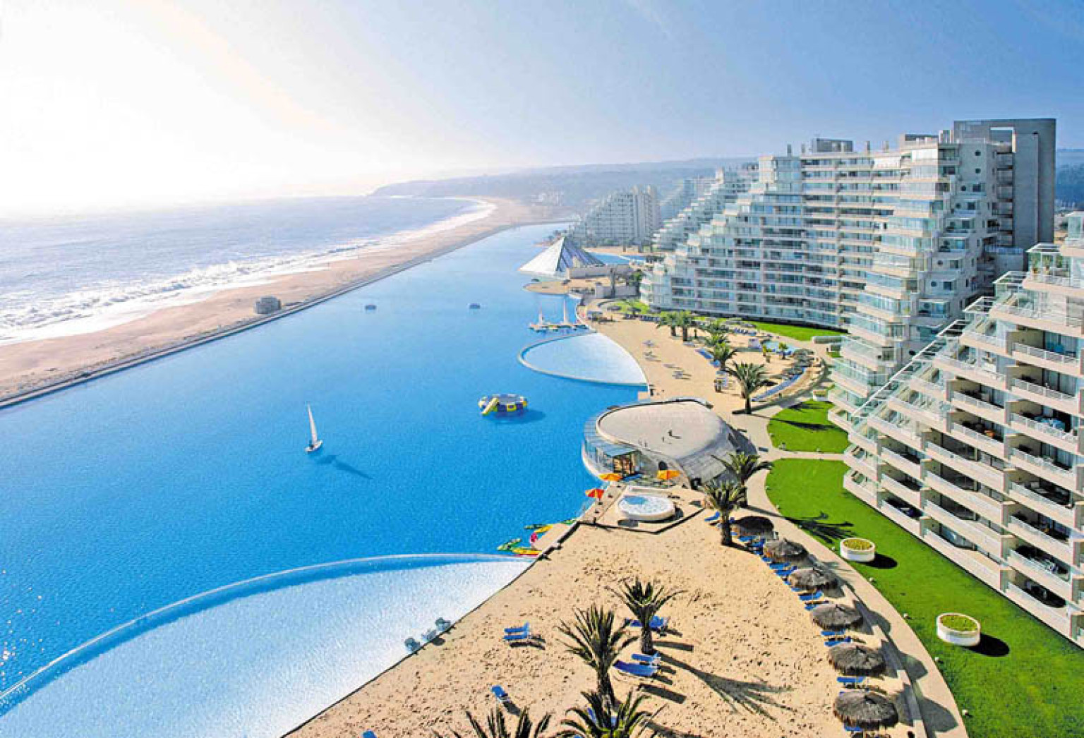 the world 39 s largest swimming pool is where you want to be right now
