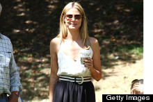 Summer Style Down To A Tee: Heidi Klum Hits The Park In Monochrome