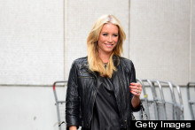 Denise Van Outen Glows In Tangerine Skinny Jeans For ITV Appearance