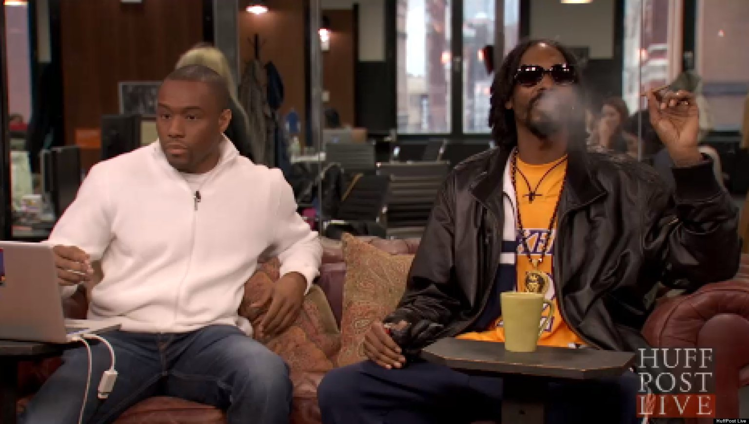 WATCH: Snoop Smokes Weed On HuffPost Live