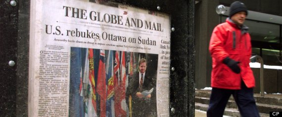 GLOBE AND MAIL JOB CUTS BUYOUTS