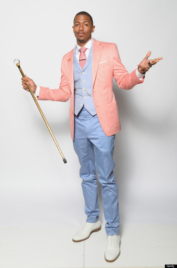 nick cannon pastel suit