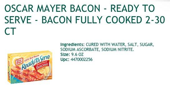 precooked bacon