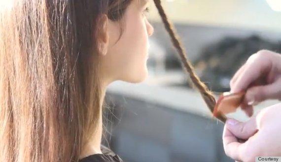 hair tie backcombing