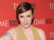 Lena Dunham's Cleavage On Full Display In Plunging Neckline (PHOTOS)