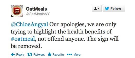 oatmeals ny tweet