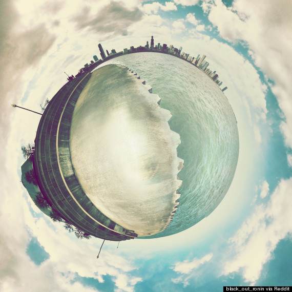 chicago planet stereographic panorama photo