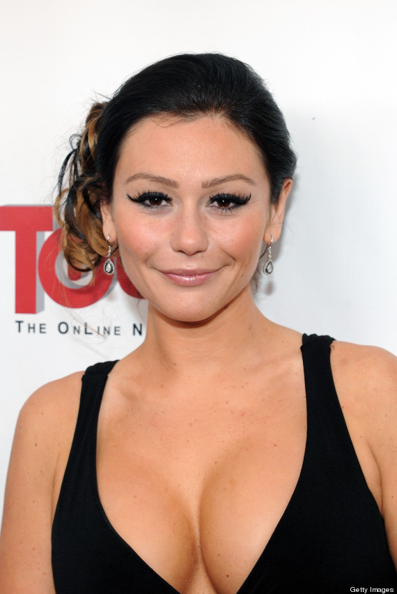 jwoww's cleavage nearly busts out of her dress (photos) | huffpost