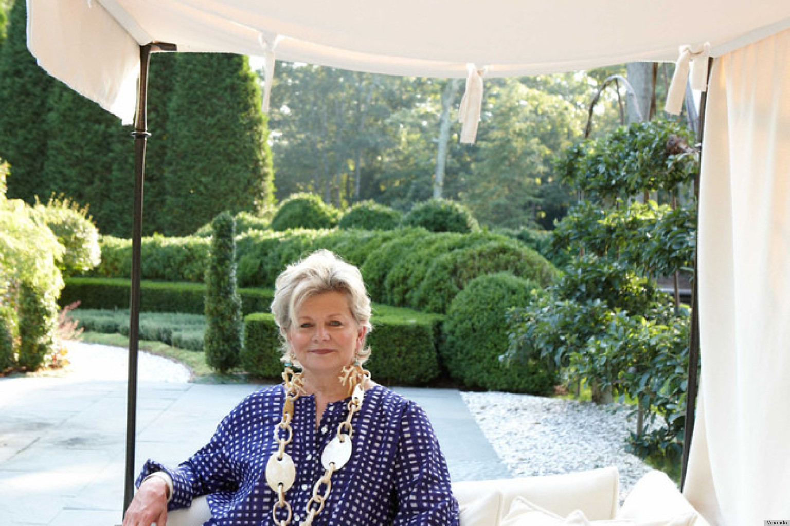 Charlotte Moss charlotte moss reveals her east hampton home's amazing gardens in