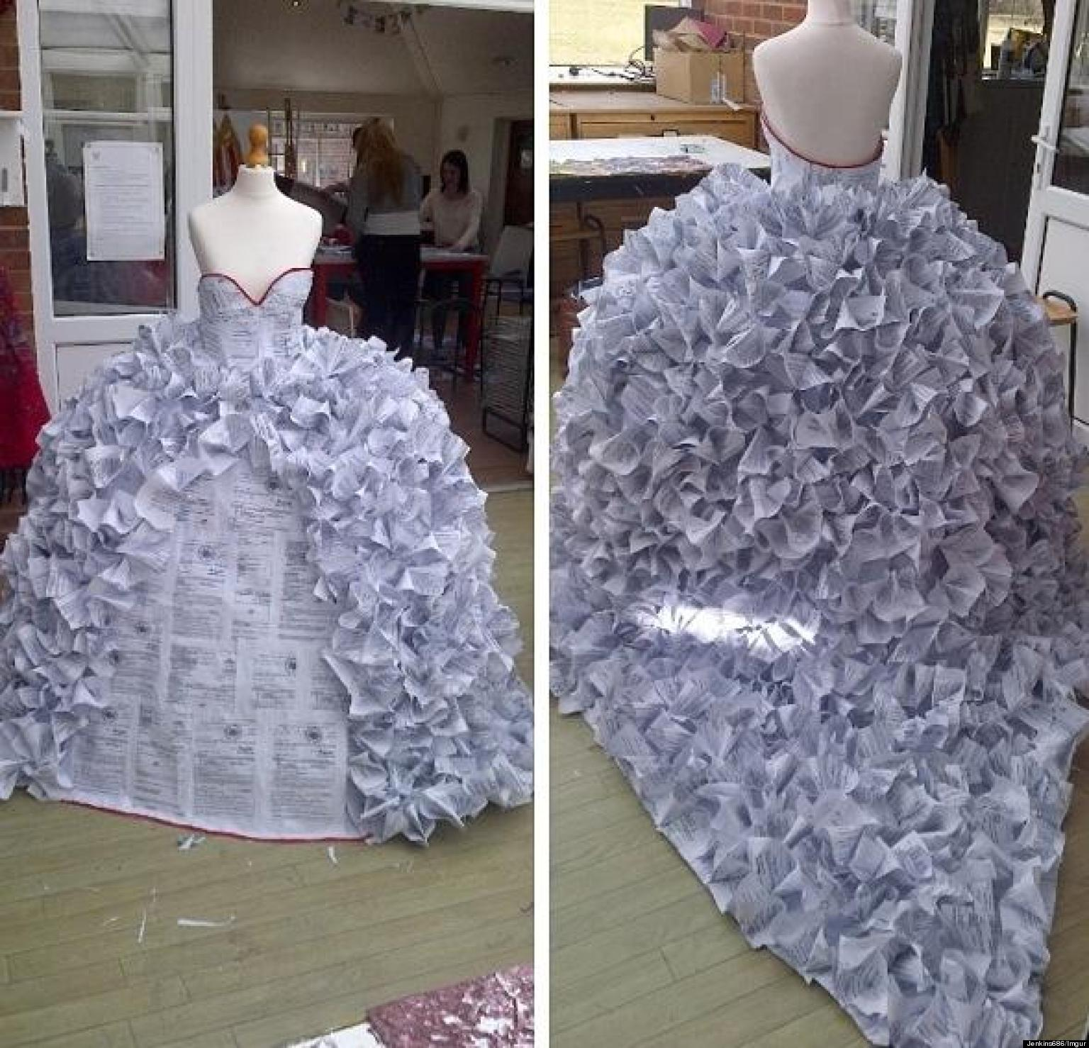 Dress made of divorce papers is impressive photos for Art made of paper