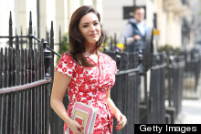 In Print: Kelly Brook Is All Smiles In Floral Shift For Celebrity Juice
