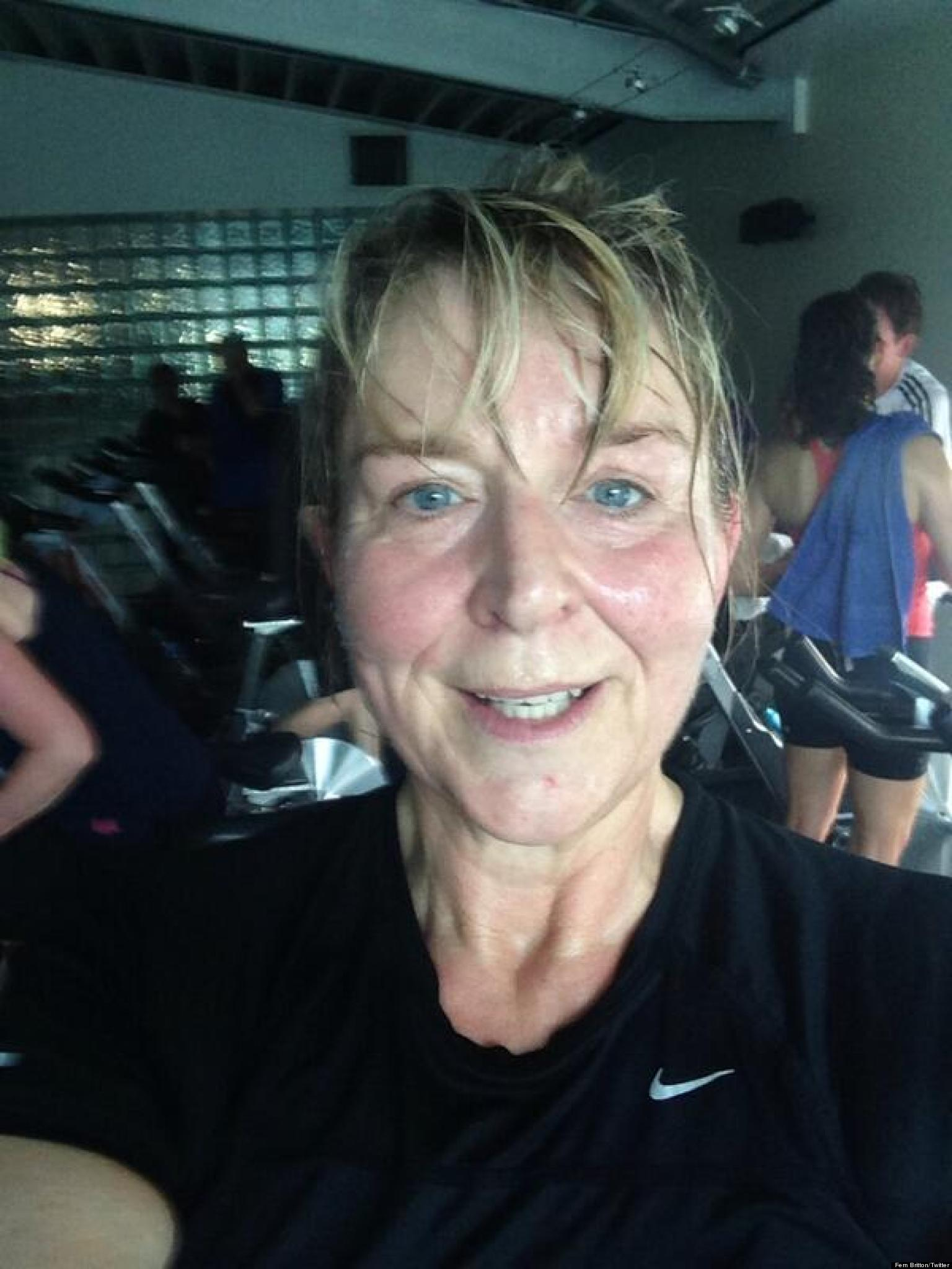 Fern Britton Goes Make Up Free In Post Gym Twitter