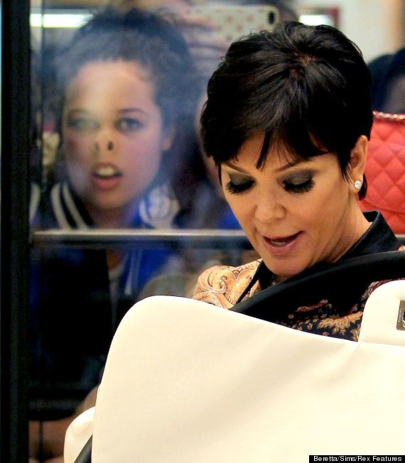 kris jenner photobomb at selfridges