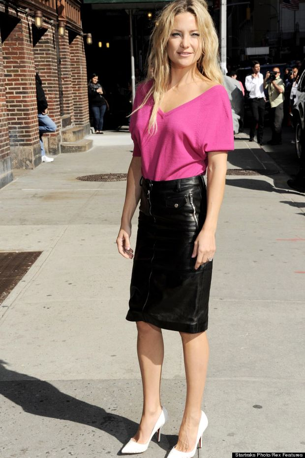 Kate Hudson Looks AMAZING In This Leather Pencil Skirt | The ...