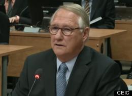 Gérald Tremblay de passage au palais de justice de Montréal
