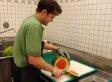 Man Breaks Down Watermelon Insanely Fast (VIDEO)