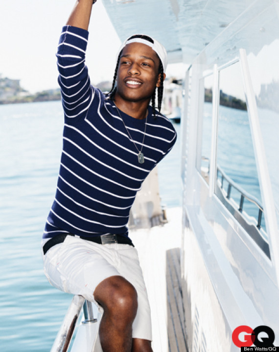 Asap Rocky For Gq May 2013 Rapper Poses For Nautical Themed Fashion Feature Photos Huffpost
