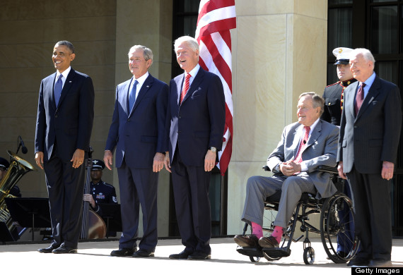 bush library presidents