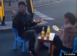 WATCH: Traffic Chaos As Couple Have Dinner In The Middle Of The Road