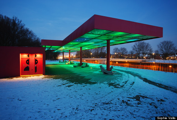 Gas Station Art Sophie Valla S Light Installation Led