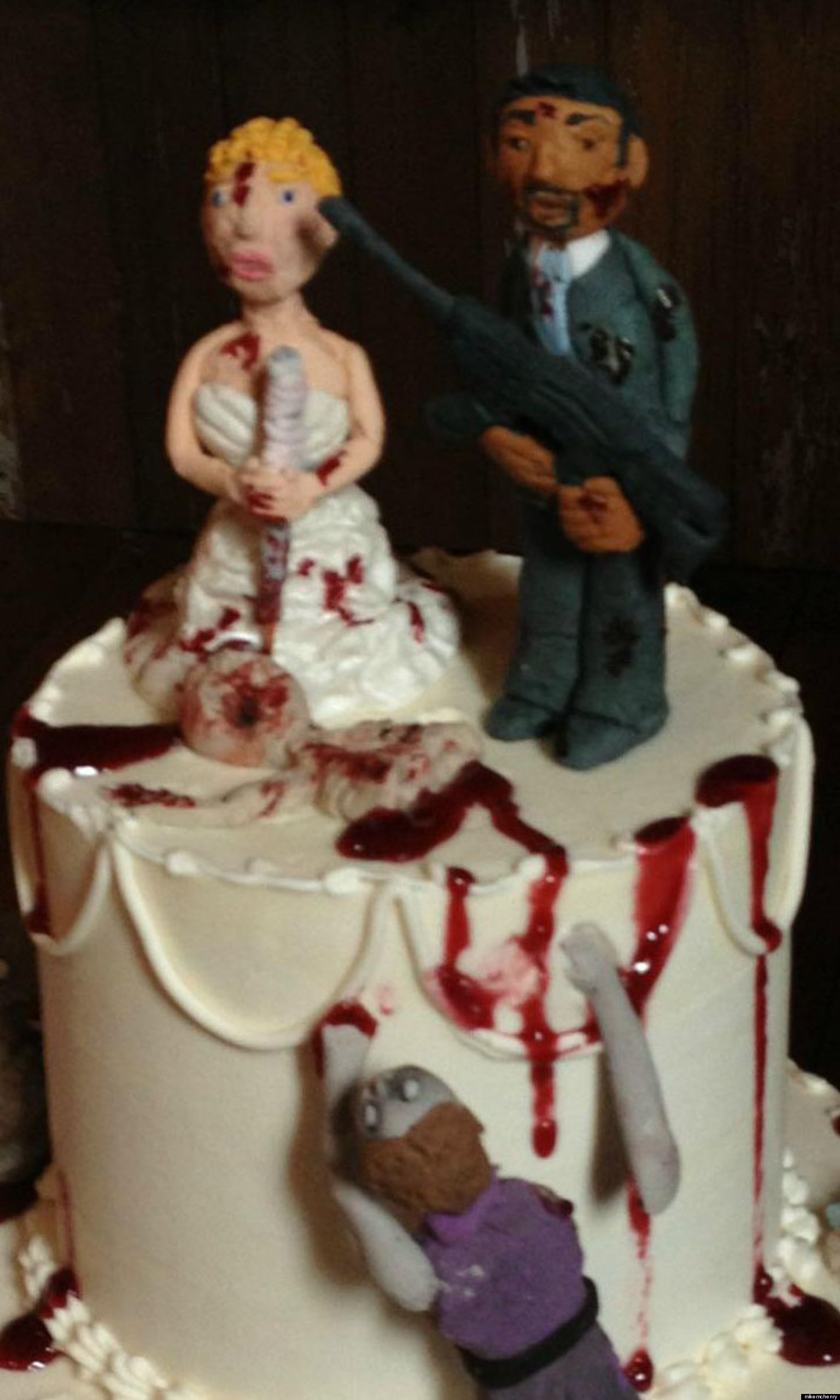 The Walking Dead Wedding Cake Is Bloody Awesome Photo