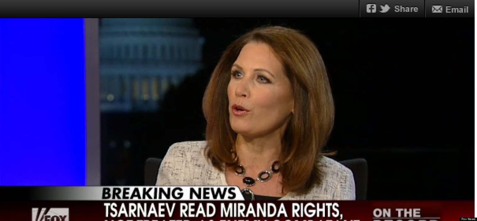 Bachmann Blasts Obama Adminstration's Handling Of Bombing Suspect