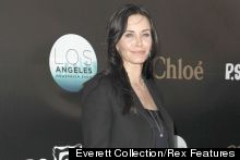 Courteney Cox Rocks Leather Skirt In LA