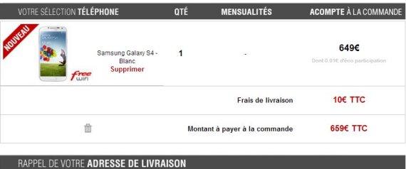galaxy s4 prix