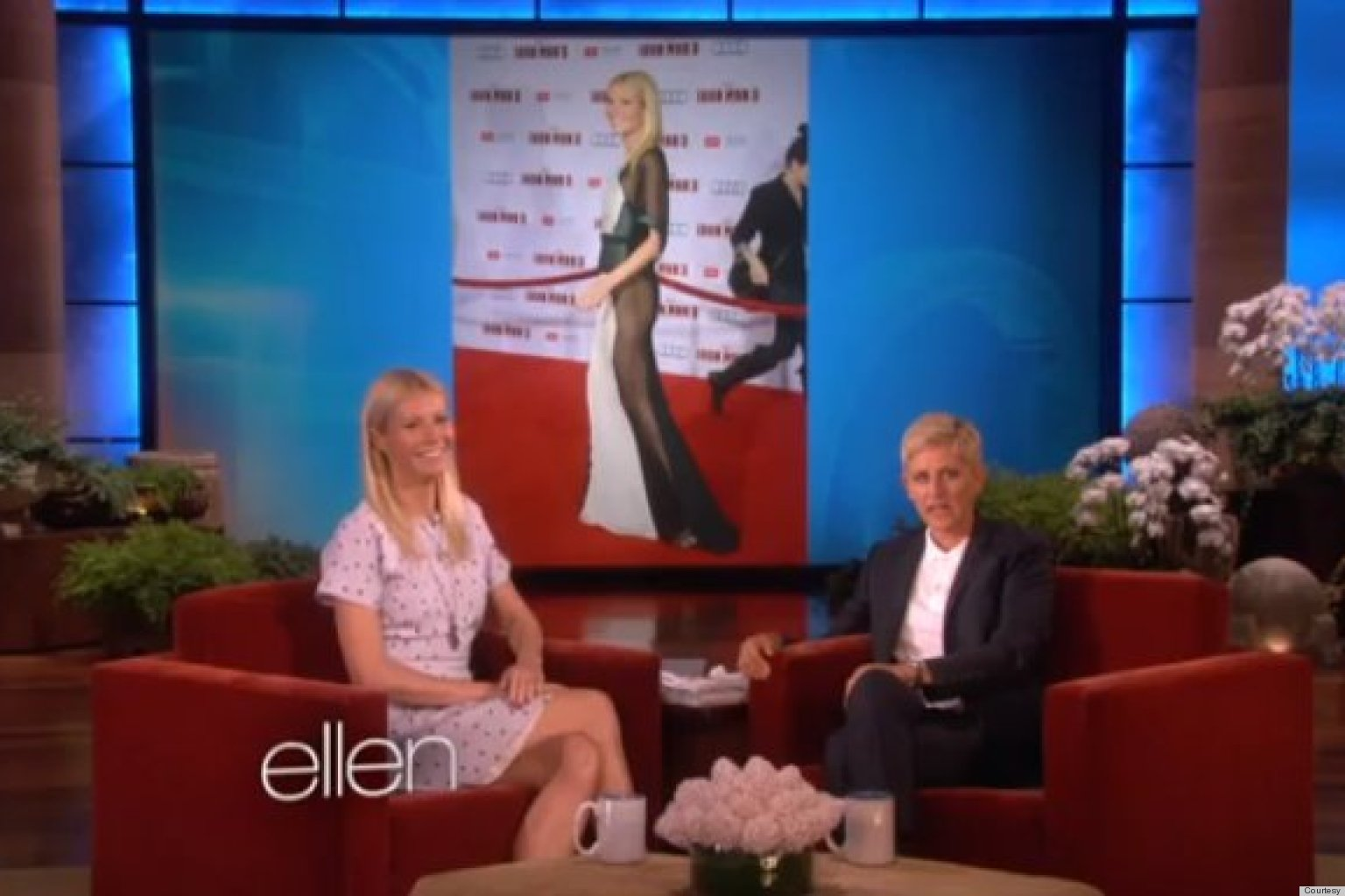 Gwyneth Paltrow Explains Her Sheer Dress To Ellen: 'I Kinda Had A Disaster'
