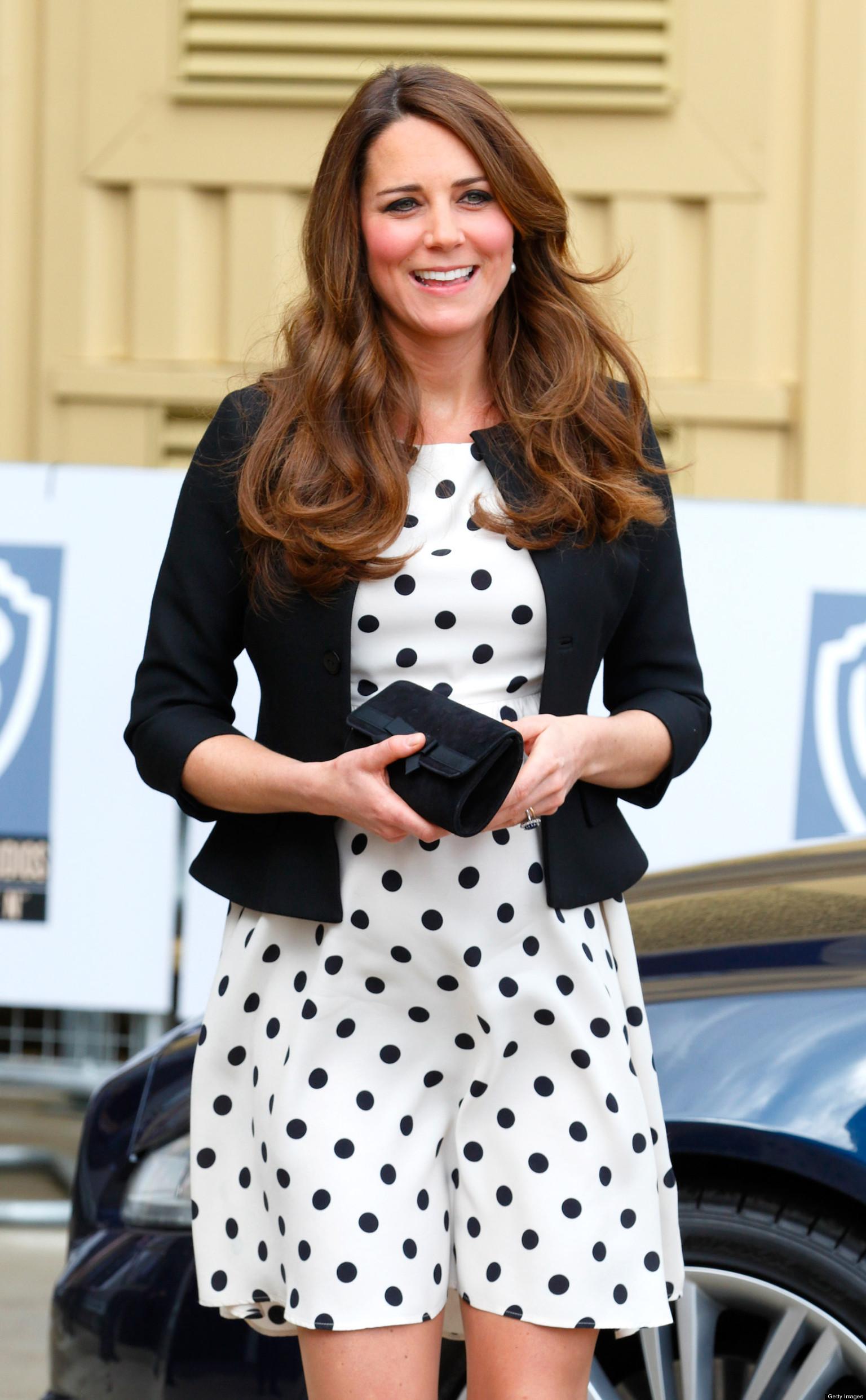 Kate Middleton Dons Polka Dot Dress From Topshop For Harry