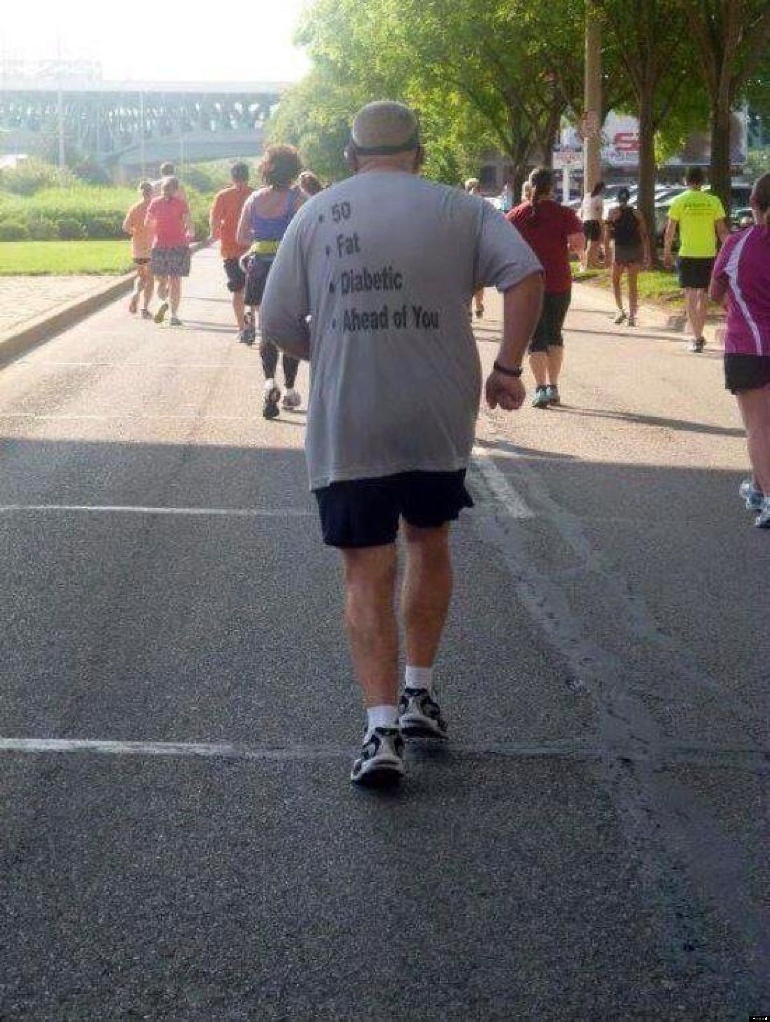 This Runner Has A Message For His Competition...