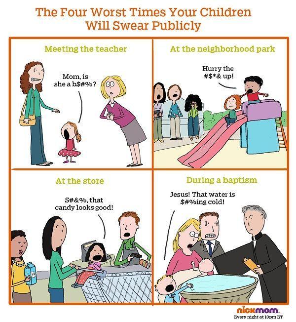 kids swearing in public