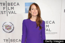 Julianne Moore Looks Radiant In Purple At Tribeca Film Festival