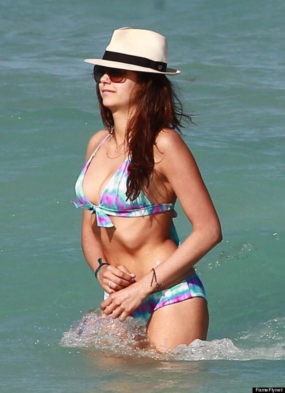 nina dobrev bikini body