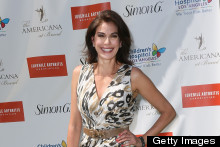 Teri Hatcher Hosts A Charity Yard Sale In Super SHORT Dress