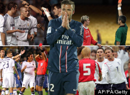David Beckham's Nine Red Cards In Pictures